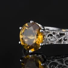 november birthstone topaz or citrine 1 60cts natural yellow citrine solitaire filigree ring citrine is