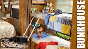 bunk beds class a rv floor plans thor 31e bunkhouse holiday