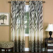 animal print window curtains foter
