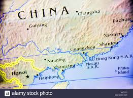 Asia Continent Map Close Up Map Of The Country China Located On The Asian Continent