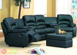 ottoman black leather sectional with ottoman high back sofa