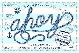 8 nautical brush set brushes creative market