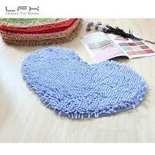 Luxury Microfiber Chenille Bath Rug Lovely Heart Shaped Microfiber Chenille Mat Bathroom Kitchen Bath