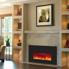 Fireplace Electric Insert Amantii Small Electric Fireplace Insert W 38x25 In Black Glass