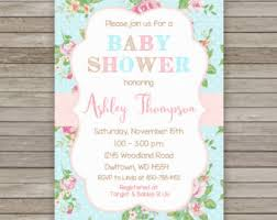Shabby Chic Shower by Vintage Rose Baby Shower Invite Baby Shower Invitation