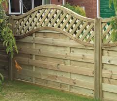 Curved Trellis Fence Panels Elite St Meloir Fence Panel 1 05m From Grange Gardensite Co Uk