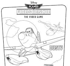 disney u0027s planes fire u0026 rescue video game coloring pages disney