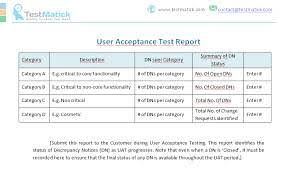 acceptance test report template uat testing template writing test cases 20110808 acceptance