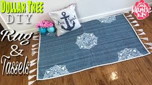 dollar tree diy area rug youtube