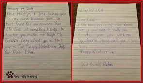 friendly letter template 2nd grade who s who and who s new building friendships on valentines day here is a peek at a couple of my students letters from last year once the letters are completed they are placed inside the receiving child s valentine