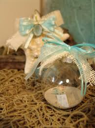 coastal ornaments rustic clear glass ornaments with sand