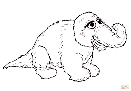 snuffleupagus stuffed animal coloring page free printable