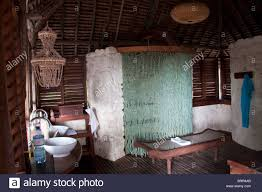 Shower Curtain Beads by Bathroom Interior With Beaded Shower Curtain At Mnemba Lodge Stock