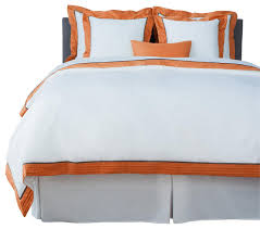 Duvet Covers King Contemporary Lacozi Sateen Persimmon Pintuck Duvet Cover Set Contemporary