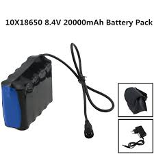 8 4v rechargeable 10x18650 20000mah battery pack for bike lights