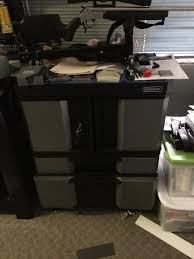 wts kobalt work bench cabinet and misc