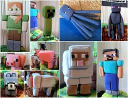 minecraft cake topper gumpaste minecraft figurines cake toppers characters fro flickr