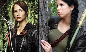 Katniss Halloween Costume Hunger Games Katniss Everdeen Makeup Hair U0026 Costume