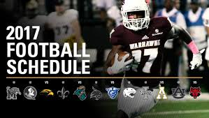 thanksgiving tv football schedule ulm warhawks
