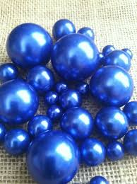 royal blue pearls for floating pearl centerpieces jumbo pearl