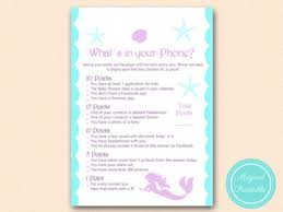 mermaid baby shower games magical printable
