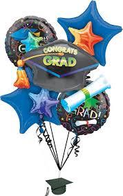 foil celebration graduation balloon bouquet 5pc graduation