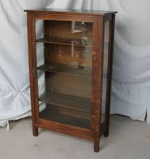 mahogany corner bookcase mission oak cabinet ebay