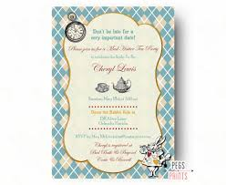 tea party bridal shower invitations mad hatter tea party invitation mad hatter bridal shower