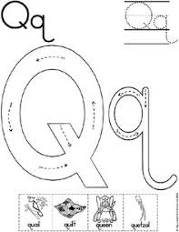 alphabet letter q worksheet standard block font preschool