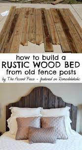 Rustic Wood Headboard 30 Rustic Wood Headboard Diy Ideas Hative
