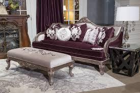 wood trim sofa lisette wood trim sofa silver gold finish aico fs lsete15 royal