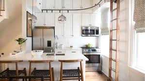 Houzz Small Kitchen Ideas Kitchen Maximizes Storage With The Help Of A Ladder U2014 See How