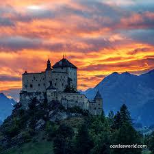 siege swiss tarasp castle switzerland magnificent scenery from the swiss alps