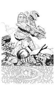 master chief halo line art by brettbarkley on deviantart