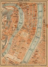 Lyon France Map Lyon Histoire Patrimoine Plans U0026 Documents En Ligne Lexilogos U003e U003e