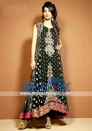latest party wear pakistani dresses in black by cimyra buy online