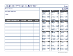 Vacation Roster Template 2018 business employee vacation request free printable templates