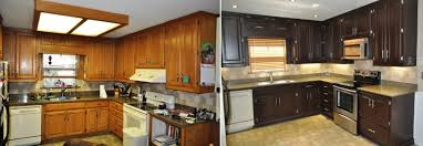 staining kitchen cabinets before and after charming ideas staining kitchen cabinets before and after super
