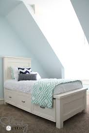 Easy To Build Platform Bed With Storage by Diy Planked Headboard Shanty 2 Chic