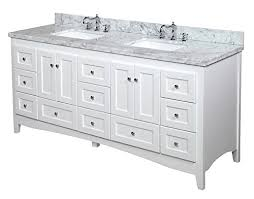 abbey 72 inch double bathroom vanity carrara white includes