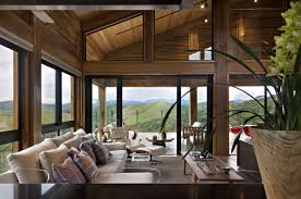 attractive design wooden house living room interior meigenn