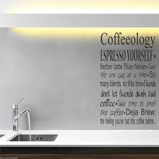 Kitchen Stencil Designs by Coffee Coffeeology Kitchen Wall Art Sticker Quote Decal Mural
