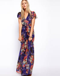 floral maxi dress dressed up