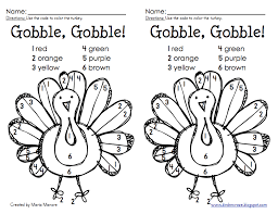 coloring number pages thanksgiving coloring