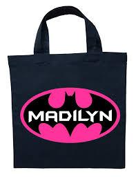 bat trick or treat bag personalized batgirl halloween bag