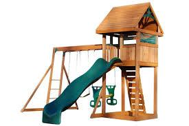 wooden climbing frames kids garden climbing frames