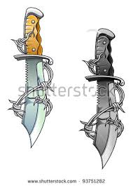 Barbed Wire Tattoos Designs Pictures Vintage Sharp Dagger Barbed Wire Stock Illustration 93751282