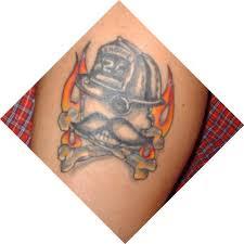 natty boh firefighter skull design tattoos book 65 000
