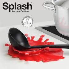 cadeau de cuisine repose cuillère splash repose cuillère cuillères et insolite