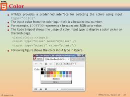 html input pattern hexadecimal session 10 aptech ltd 2html forms session 10 describe